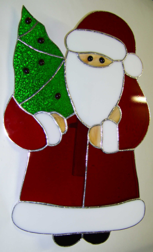 Fensterbild Santa Claus Tiffany